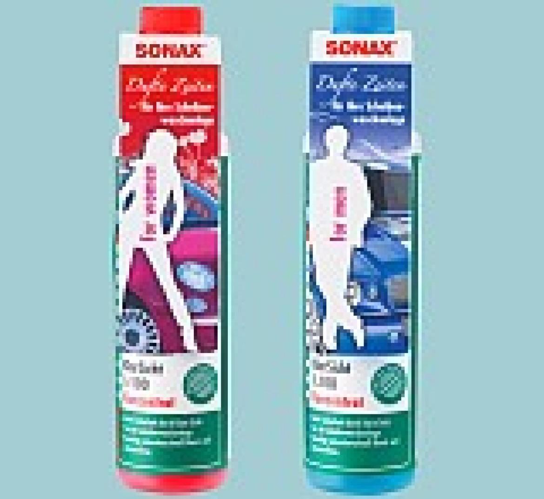 НОВИНКА SONAX – концентрат для очистки стекол с ароматами «для него» и «для нее»!