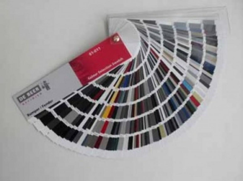 Новый цветовой веер DeBeer с образцами окраски бамперов Bumper Colour Selection Swatch.