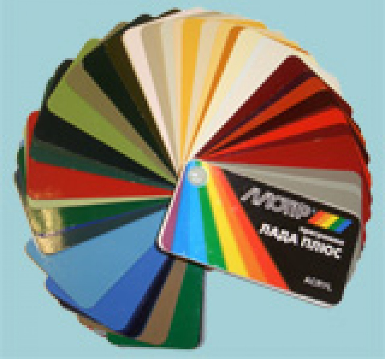 Цветовые вееры для программы «Лада плюс»