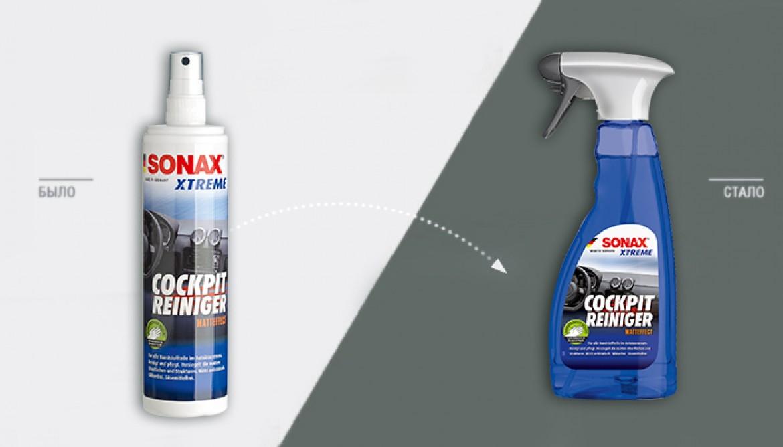 SONAX Очиститель-полироль для пластика с матовым эффектом теперь в новой упаковке