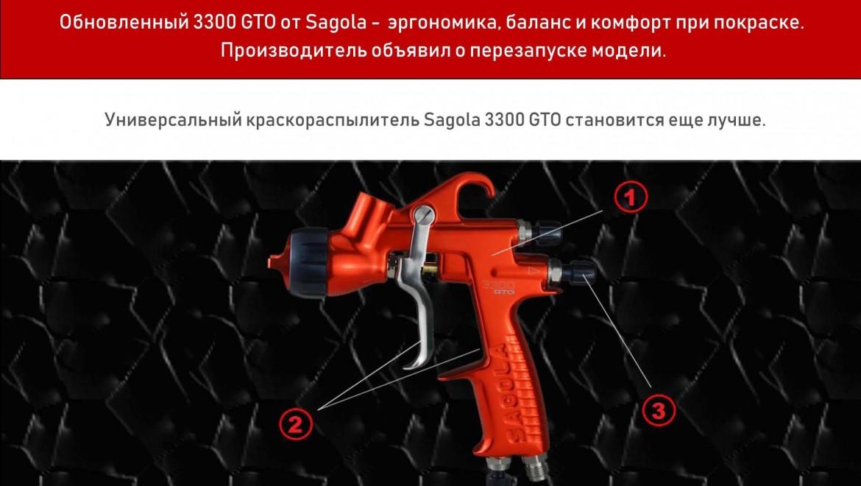 Новинка в ассортименте компании «Русавтолак»:  краскопульт SAGOLA 3300